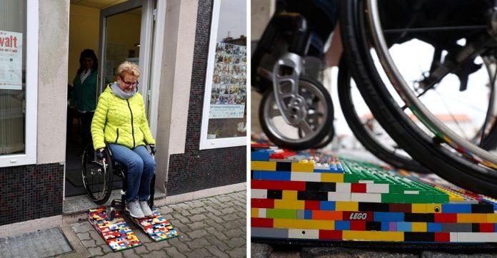 Idosa cadeirante constrói rampas de Lego na Alemanha