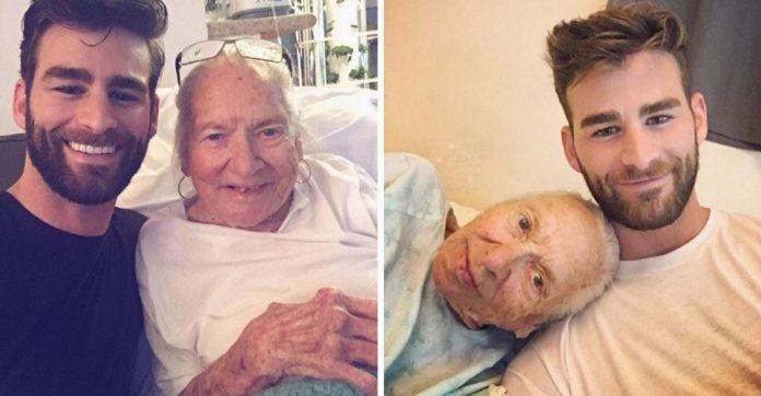 Ator homenageia idosa que ele 'adotou' após sua morte por leucemia 1