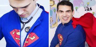 Super-pediatra veste herói para atender crianças