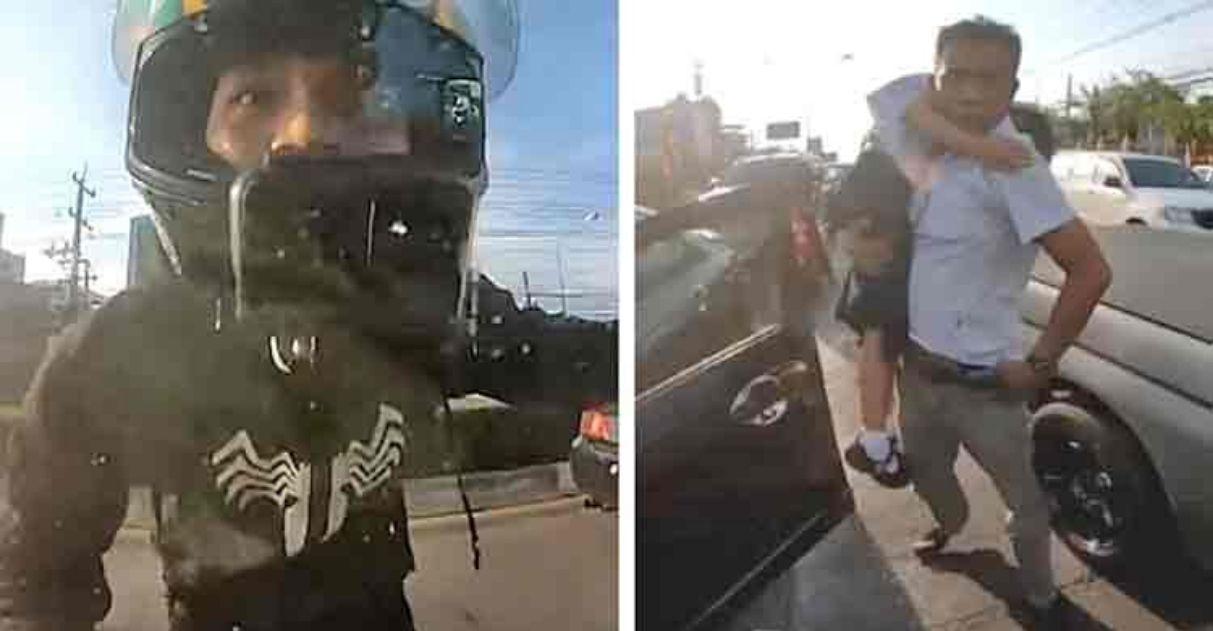 Motociclista resgata menina ataque epiléptico