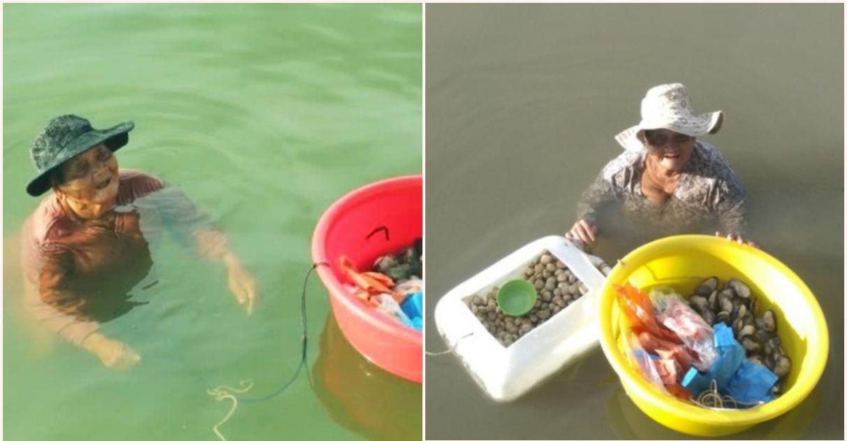 Idosa que passa o dia pescando para comprar remédios para filha doente recebe ajuda de vizinhos 1