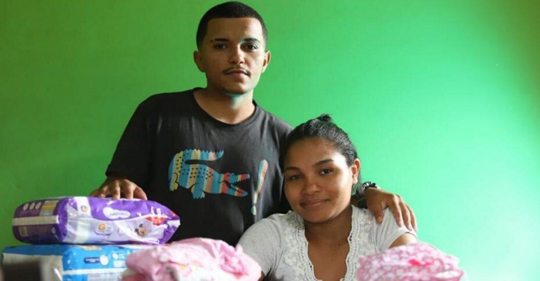 Mulher grávida recebe doações enxoval após chuva BH