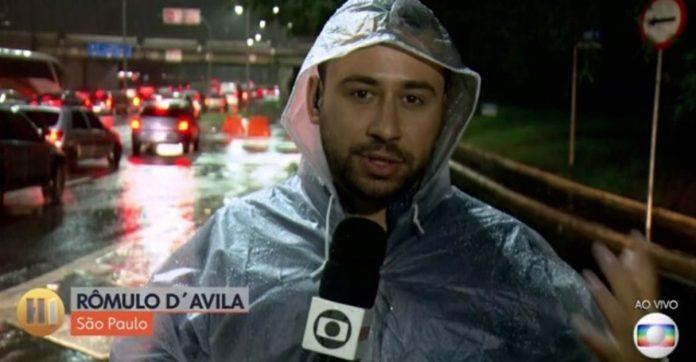 Repórter interrompe reportagem resgatar idoso