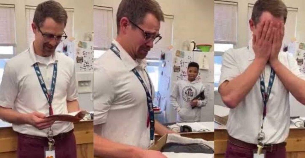 Professor vai às lágrimas com ato de generosidade de alunos 1