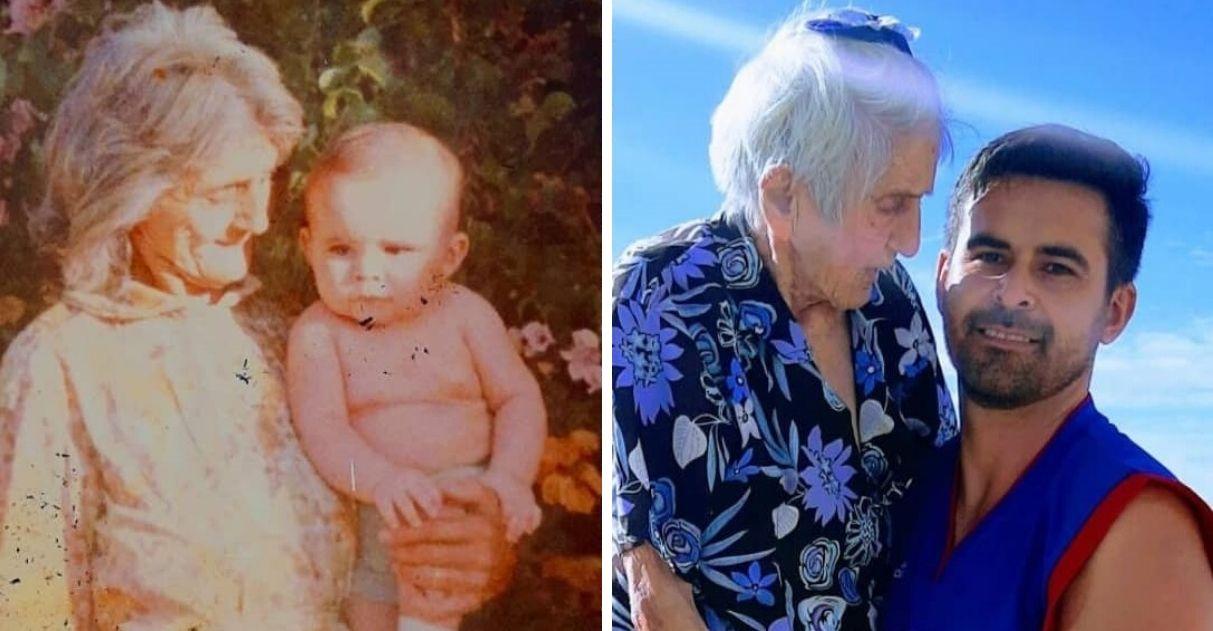 Neto homenageia avó em seu aniversário de 99 anos