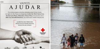 Shoppings SP e Cruz Vermelha arrecadam doações vítimas enchentes