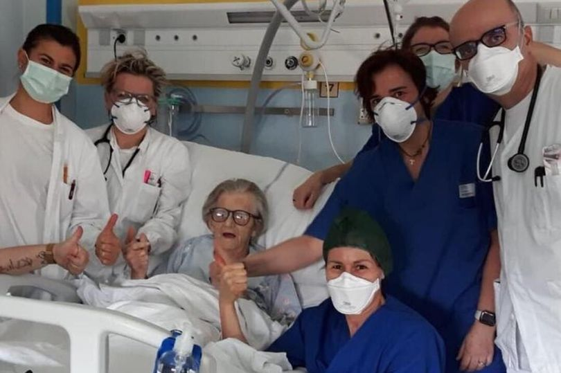 primeira paciente curada do coronavírus na Itália idosa 95 anos