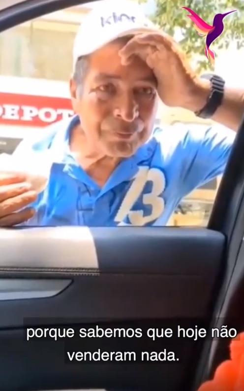 vendedor ambulante que não conseguia vender doces por causa da quarentena recebe incrível doação