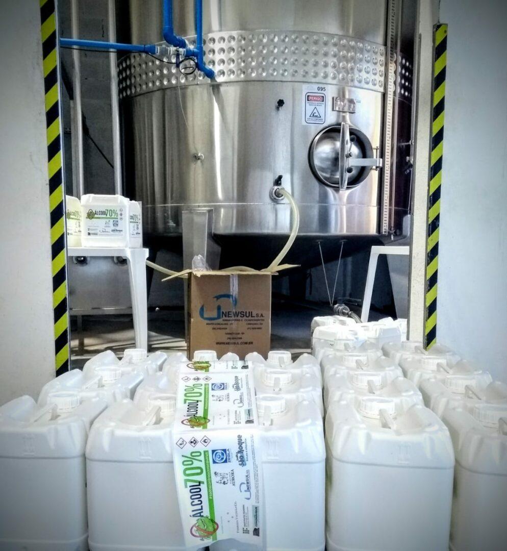 Coronavírus: Instituto Federal do RS vai transformar vinho em álcool 70%
