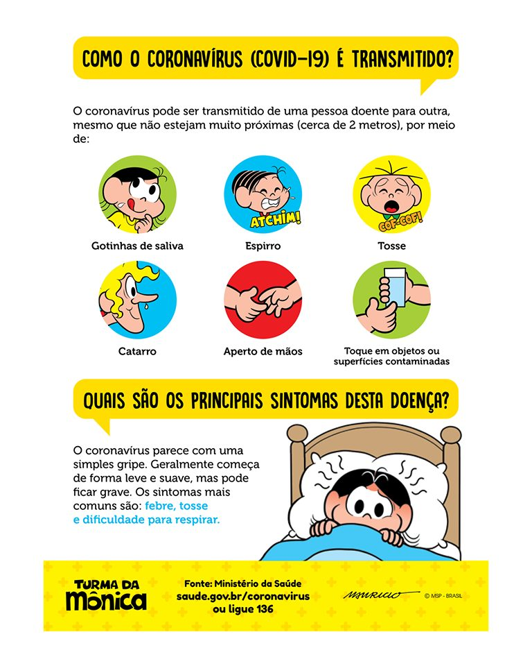 TV Cultura e Turma da Mônica fazem vídeo de conscientização sobre o coronavírus; assista 3