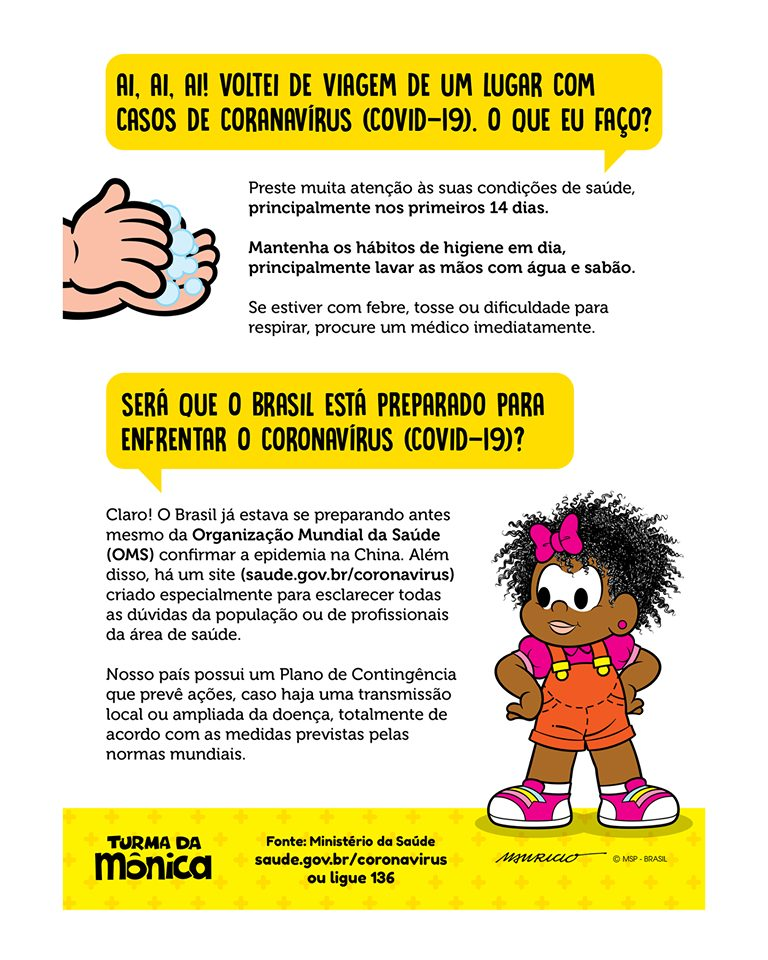 TV Cultura e Turma da Mônica fazem vídeo de conscientização sobre o coronavírus; assista 5