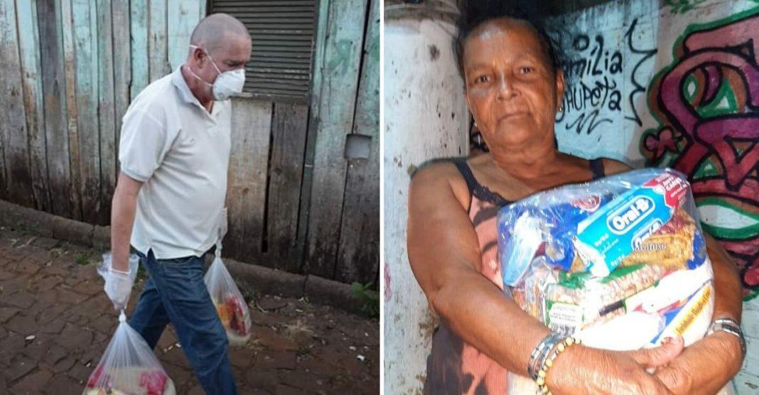Voluntários arrecadam cestas básicas para ajudar moradores de favelas sem comida nessa quarentena
