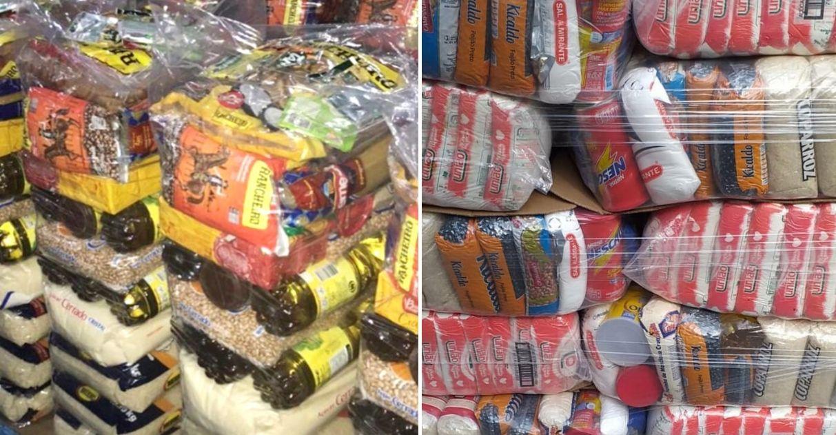 Voluntários arrecadam cestas básicas para moradores de favelas sem comida nessa quarentena pelo coronavírus