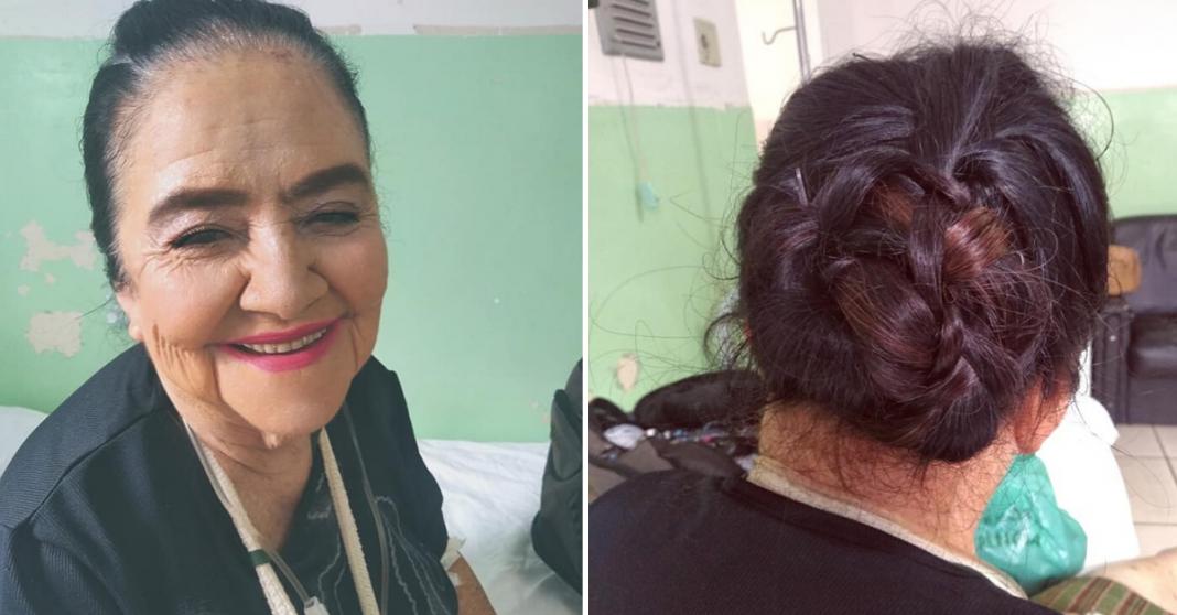 """Mesmo internada em hospital, jovem maquia idosa que não se sentia bonita: """"ela me agradeceu sorrindo"""" 3"""