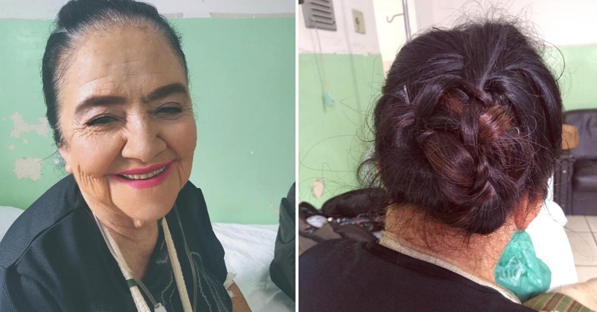 """Mesmo internada em hospital, jovem maquia idosa que não se sentia bonita: """"ela me agradeceu sorrindo"""" 2"""