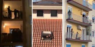 italianos cantam nas janelas