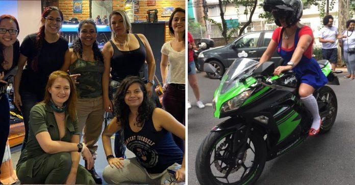 Mulheres motociclistas