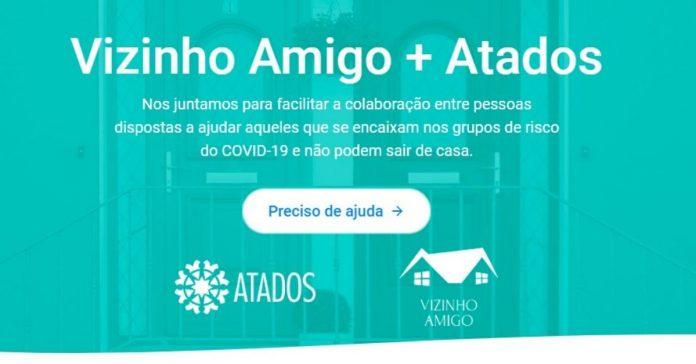Foto de site de iniciativa que incentiva vizinhos a ajudarem idosos em tempos de coronavírus