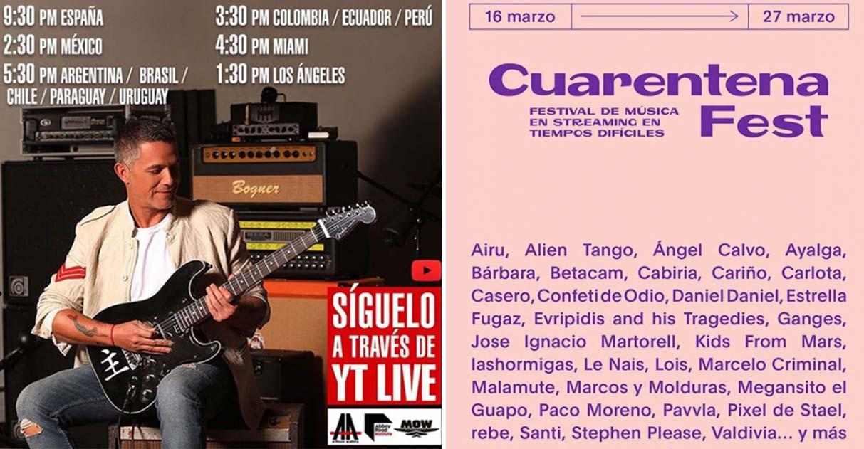 Coronavírus: Alejandro Sanz e outros artistas fazem shows para fãs de suas casas 2