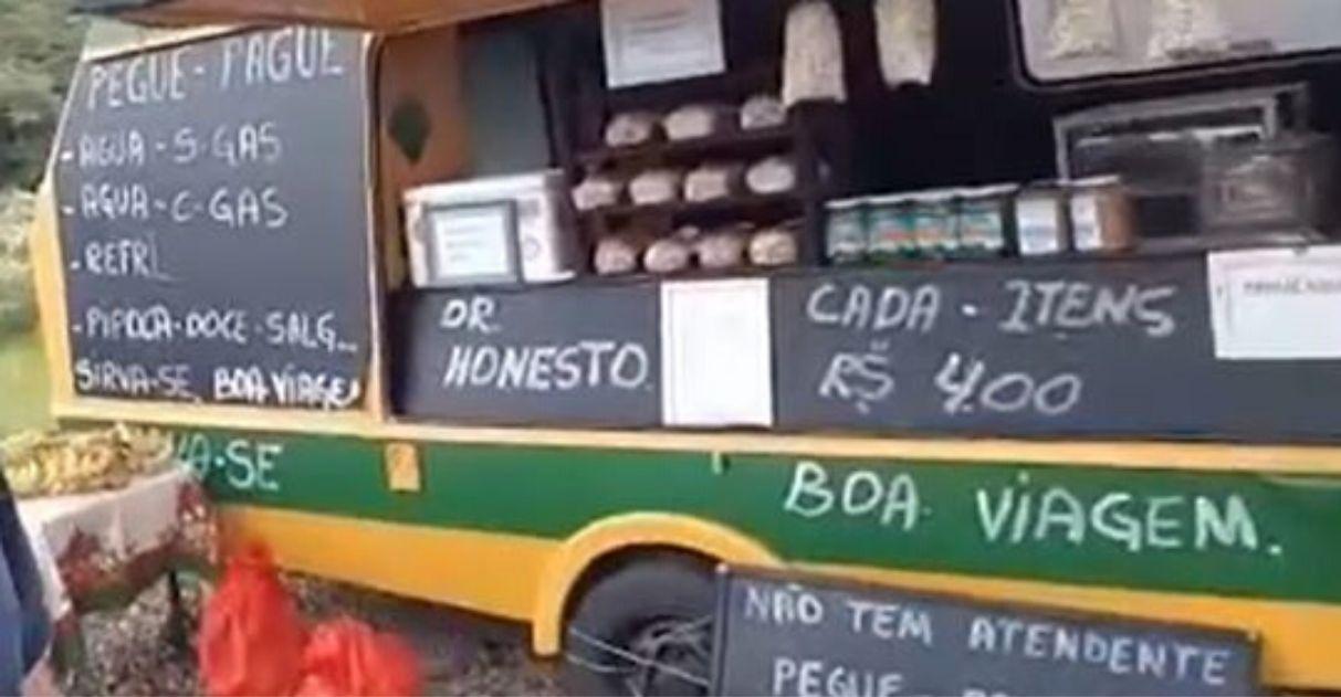 barraquinha da honestidade br-470 santa catarina