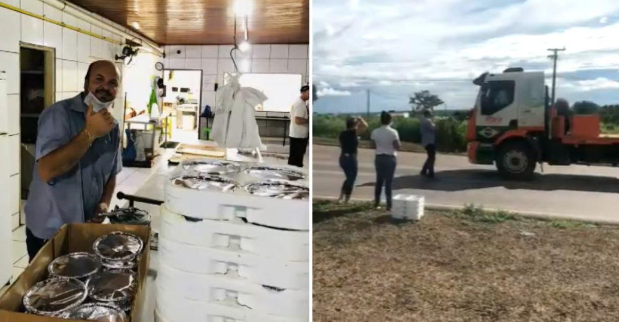 Churrascaria doa marmitas para caminhoneiros em meio à pandemia (MT)