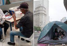 Voluntários realizam campanha de prevenção ao coronavírus para população em situação de rua (SP)