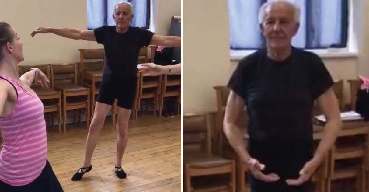 idoso aprende balé após perder esposa