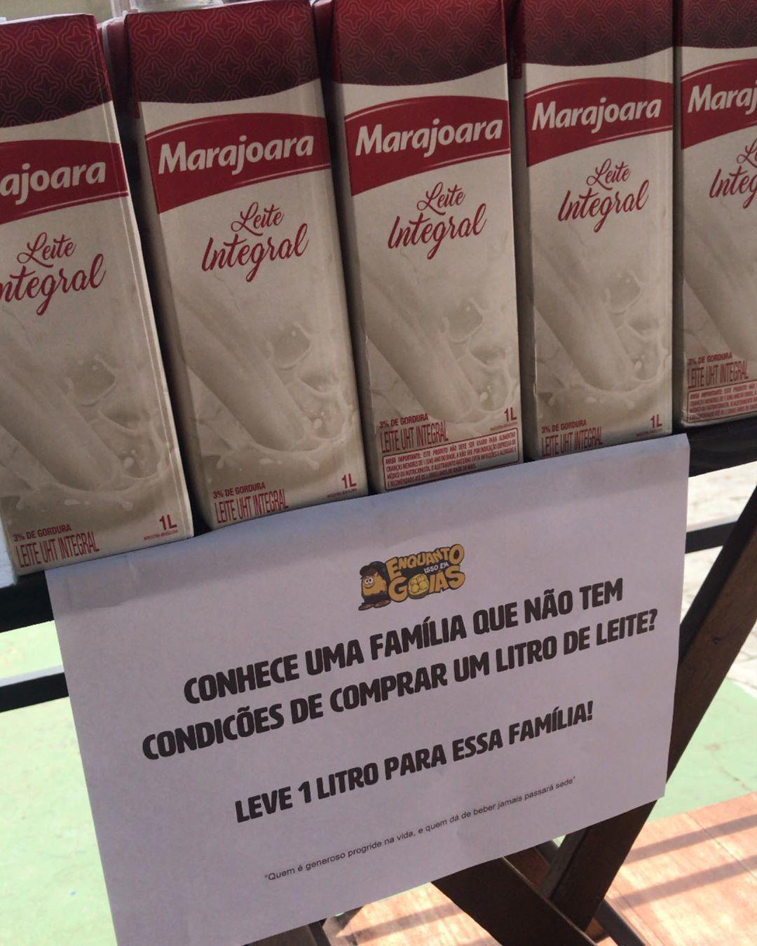 empório oferece caixas de leite para famílias carentes goiás