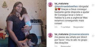 Mães se mobilizam para ajudar dona de casa e filha com microcefalia sem comida em casa