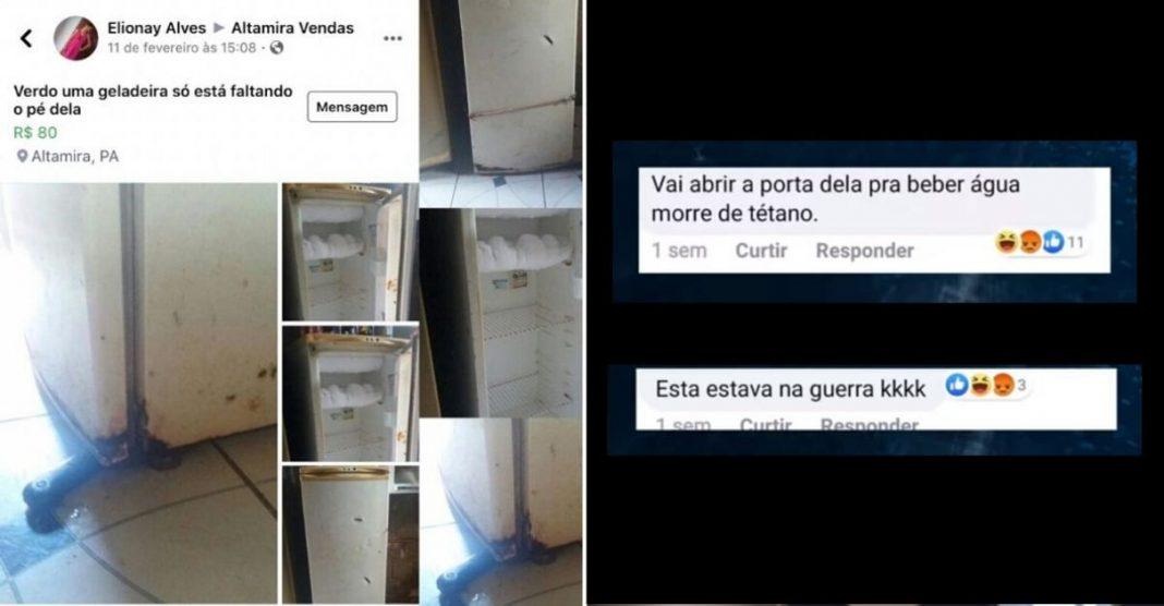 Mãe vira alvo de piadas ao anunciar geladeira usada e recebe apoio de internautas