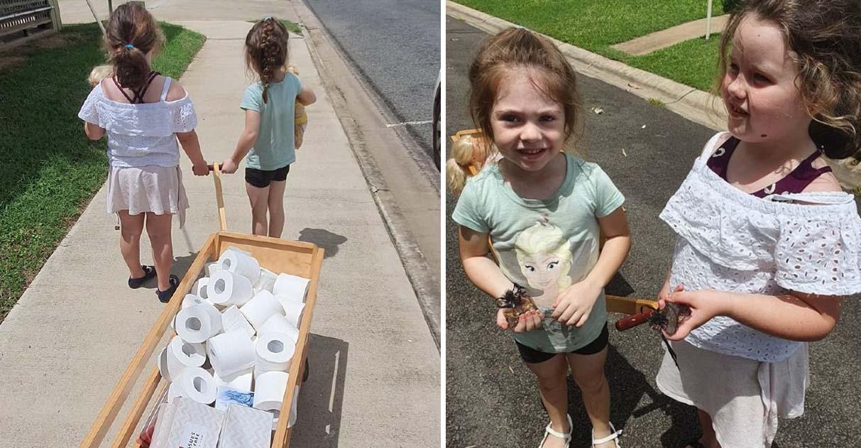 Meninas usam mesada para comprar papel higiênico para vizinhos idosos 1