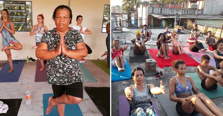 Voluntária leva aulas de Yoga para mulheres da periferia de São Paulo e eleva autoestima 1
