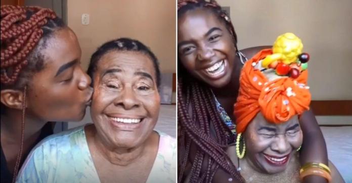 Neta maquia avó com Alzheimer e transforma as visitas em tardes especiais ao lado dela 3