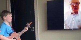 isolamento social coronavírus videochamada avô e neto dueto banda queen