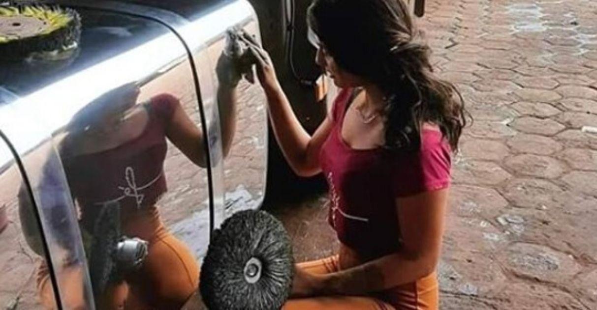 Jovem faz sucesso polindo caminhões na Amazônia