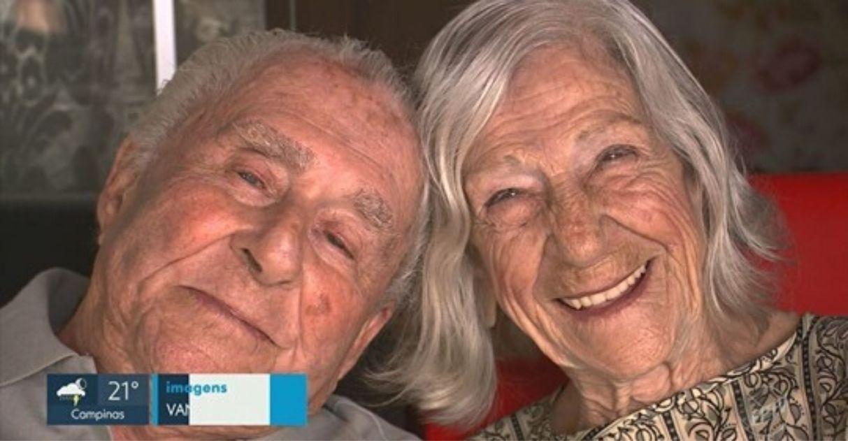 Casal de idosos celebra casamento casa de repouso Campinas