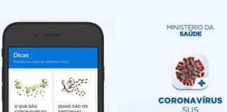 SUS aplicativo informações Coronavírus Brasil