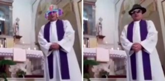 Padre italiano filtro live Facebook