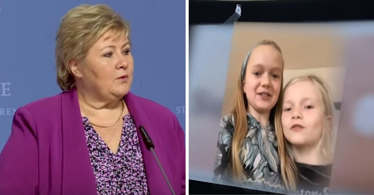 """Primeira-ministra da Noruega faz conferência de imprensa exclusivamente para crianças: """"Está tudo bem sentir medo"""" 1"""