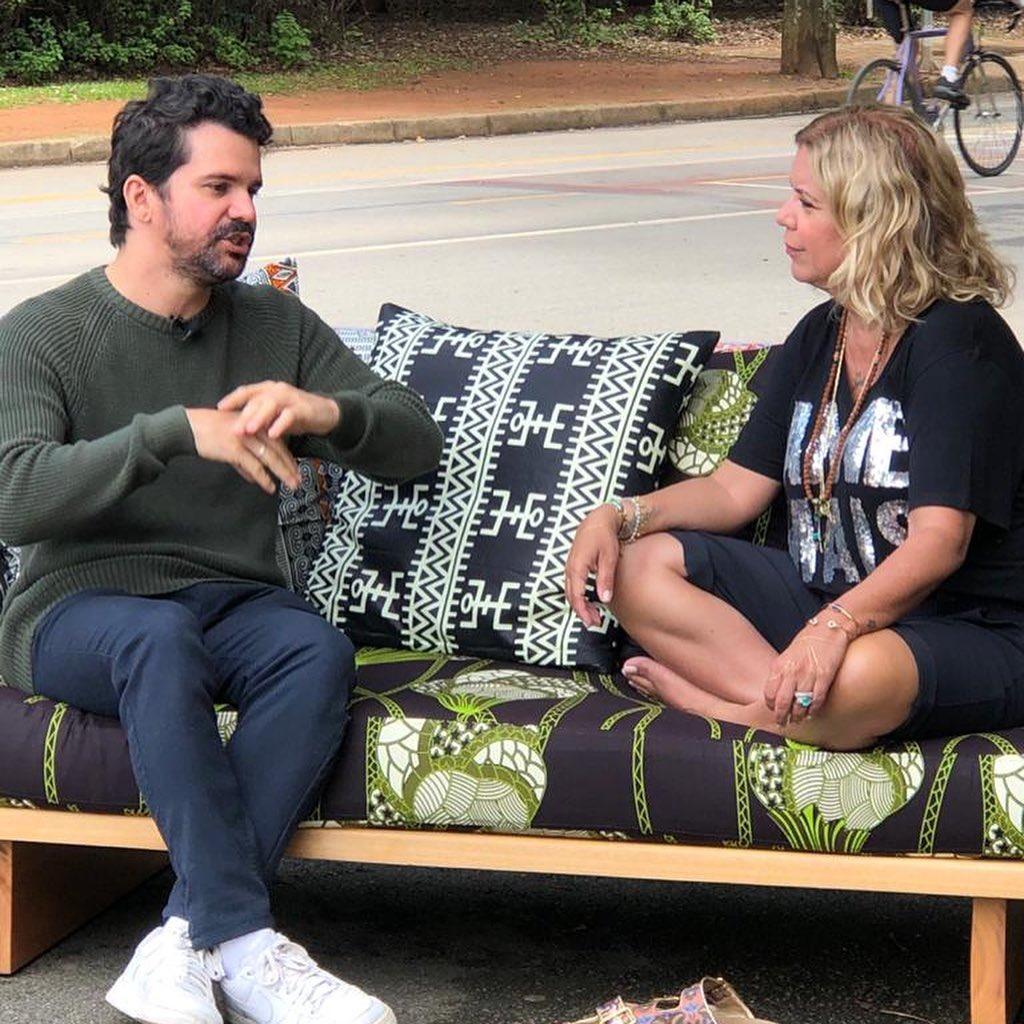 criador do Razões Para Acreditar com a apresentadora Astrid Fontenelle
