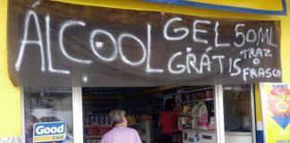 Farmácia oferece álcool em gel de graça Curitiba