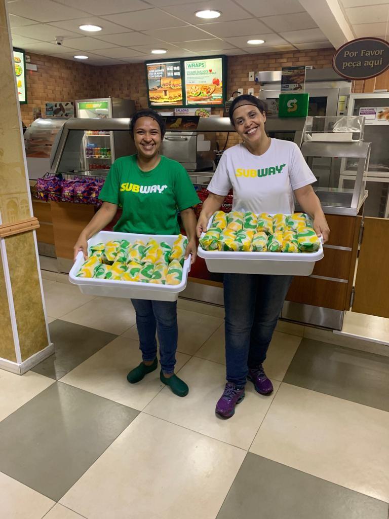 Subway doa sanduíches instituições profissionais da saúde