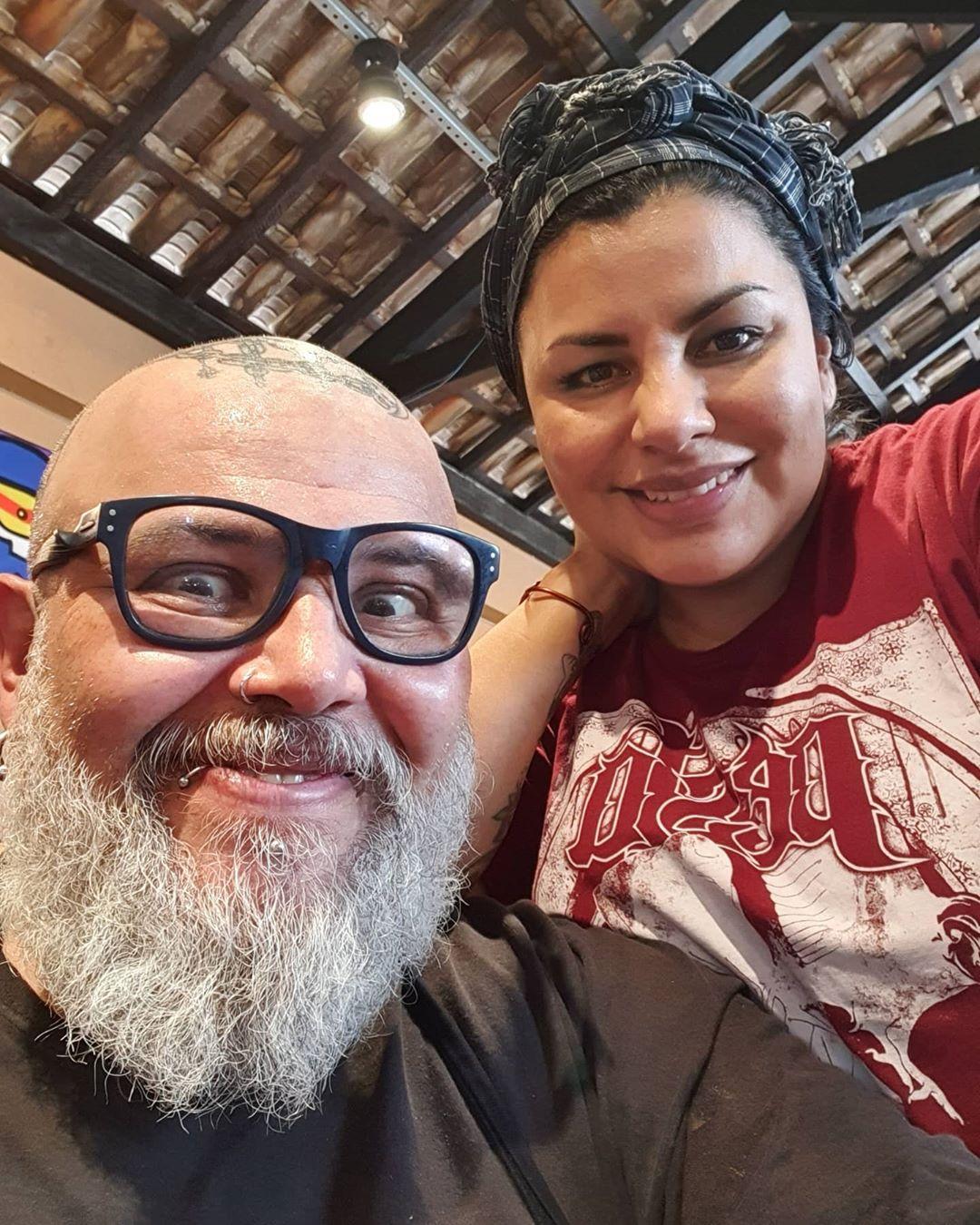 selfie joão gordo e sua esposa