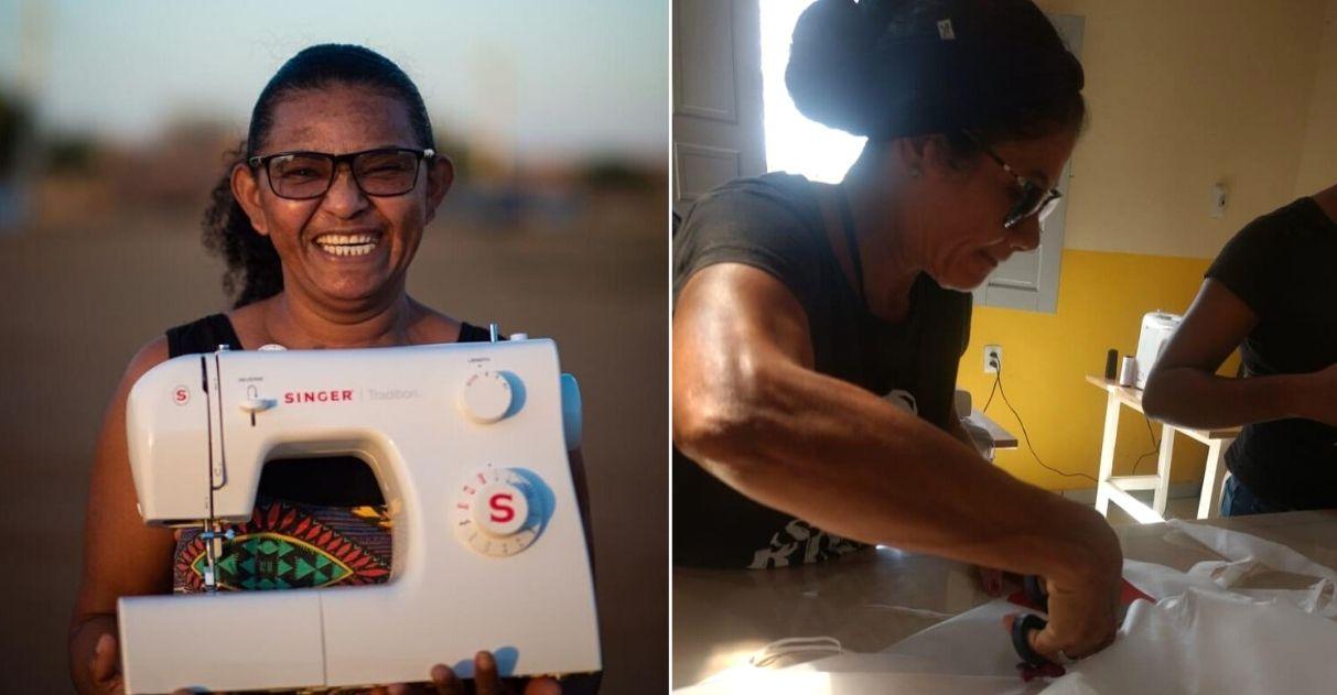 Costureiras do sertão baiano abrem mão de renda e confeccionam máscaras para ajudar hospitais