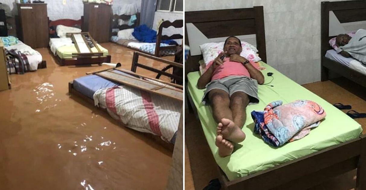 Moradores se mobilizam e reconstroem asilo atingido por enchente em menos de 24h (MG)