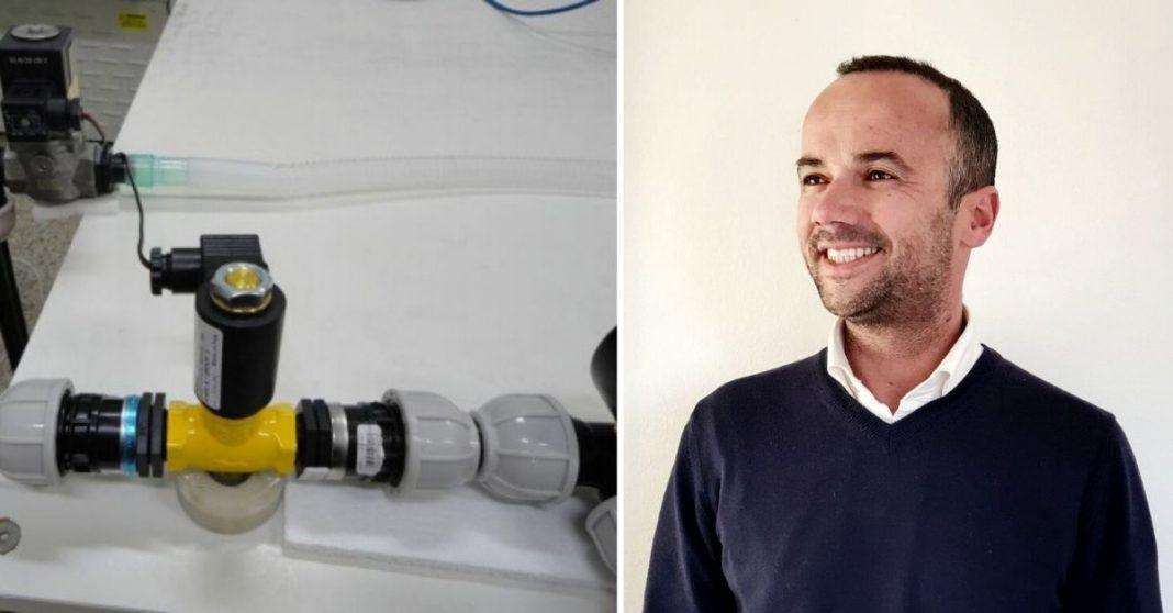 Cientista português e respirador que ele criou e distribuiu patente para o mundo