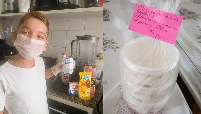 Criança de 11 anos faz e vende pavês para ajudar vítimas da Covid-19 1