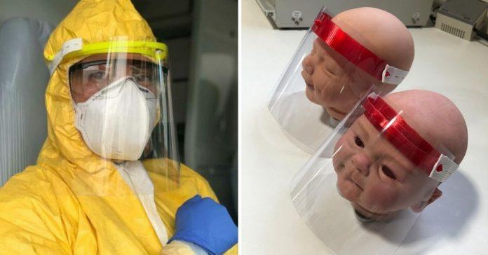 Protetores faciais impressos em impressoras 3D de universidades