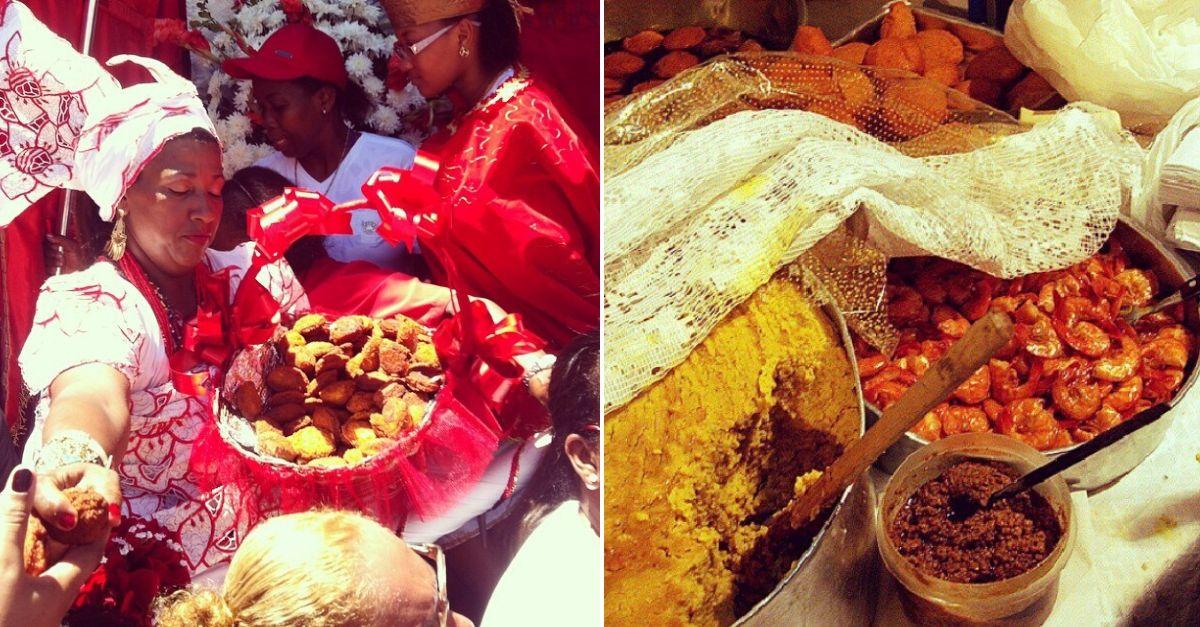 baianas de acarajé e seus pratos