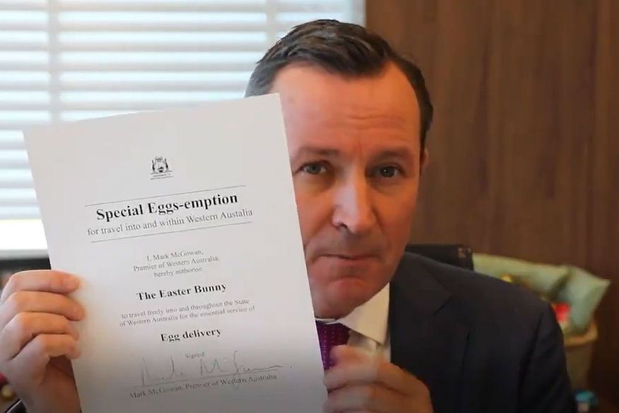 premiê australiano autoriza circulação coelho da páscoa carta menina